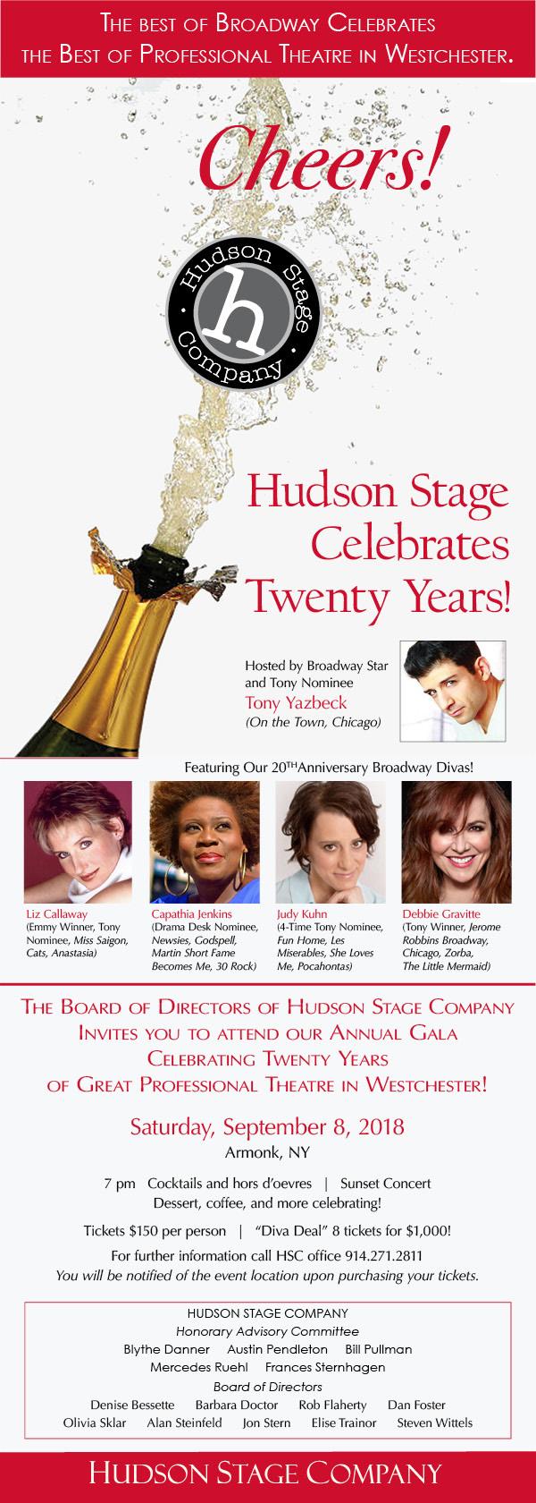 20 Year Hudson Stage Anniversary